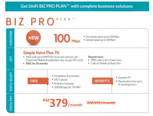 Unifi Biz 100Mbps promotion