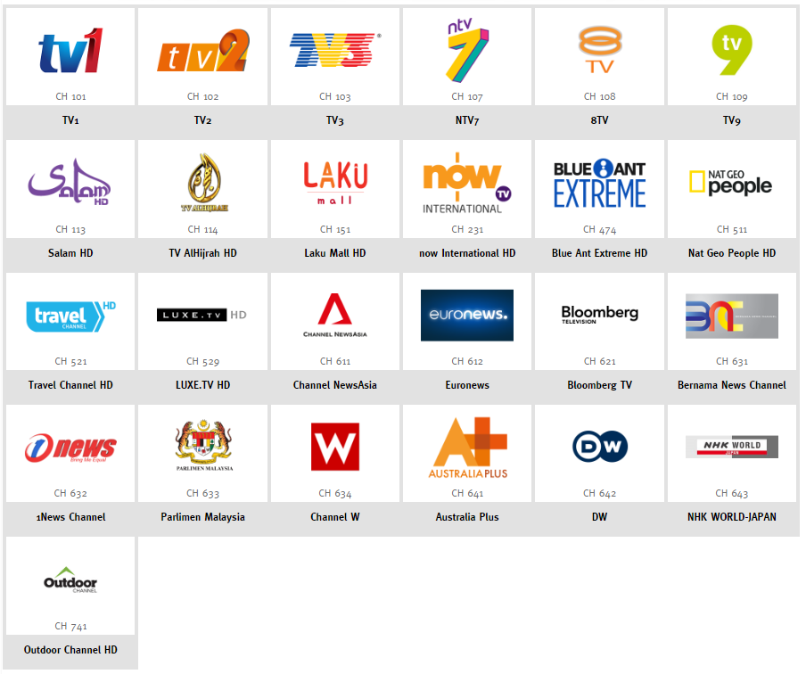unifi TV Free channels