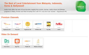 unifi TV aneka pack channels