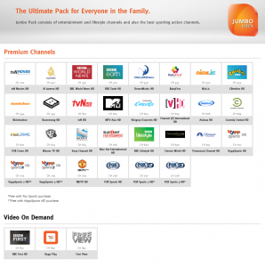 unifi TV jumbo pack channels