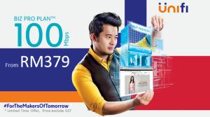 Unifi package biz 100Mbps