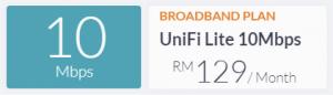 unifi 10mbps
