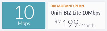 unifi biz package 100Mbps