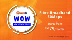 unifi fibre broadband 30Mbps